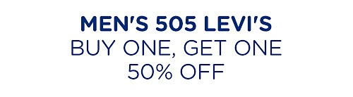 Buy one, get one 50% off men's Levi's jeans