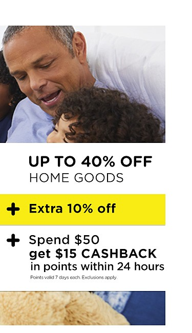 Up to 40% off home goods