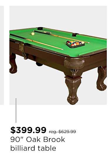 """Sportcraft Oak Brook 90"""" Billiard Table"""