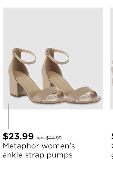 Metaphor Women's Tinslee Ankle Strap Pump