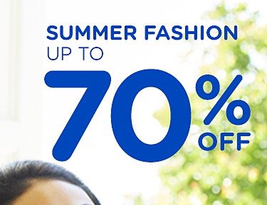 Summer fashion up to 70% off