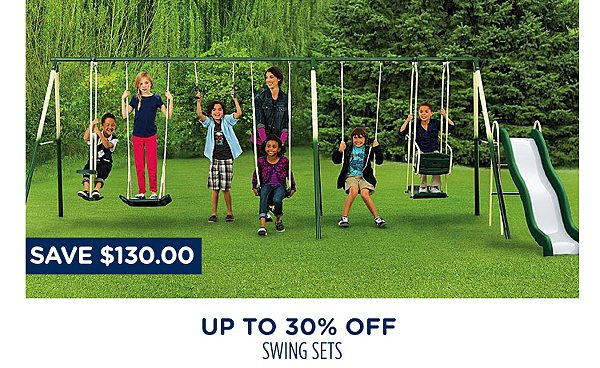 Up to 30% off swing sets