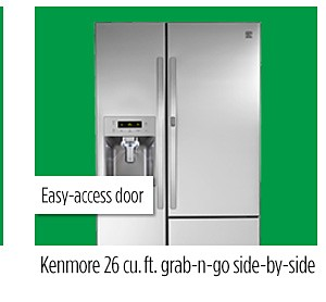 Kenmore 26 cu. ft. side-by-side refrigerator