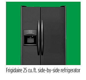 Frigidaire 25 cu. ft. side-by-side refrigerator