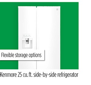 Kenmore 25 cu. ft. side-by-side refrigerator