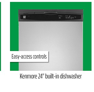 "Kenmore 13803 24"" Built-In Dishwasher"