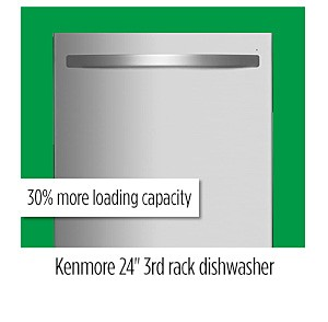 "Kenmore 14573 24"" Dishwasher with Third Rack"