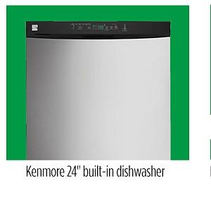 """Kenmore 13093 24"""" Built-In Dishwasher w/ PowerWave™ Spray Arm"""