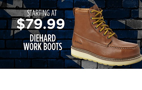 Diehard work boots starting at $79.99