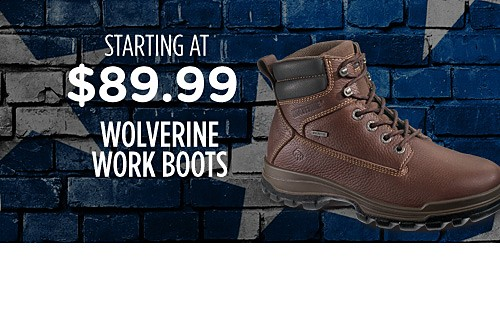 Wolverine work boots starting at $89.99