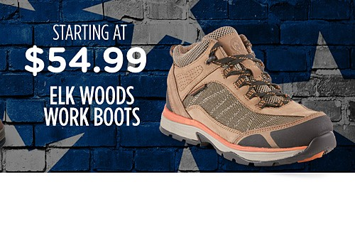 Elk Woods work boots starting at $54.99