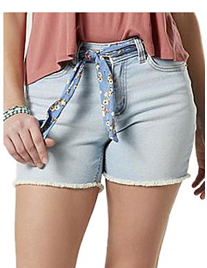 Roebuck & Co. Women's Frayed Jean Shorts