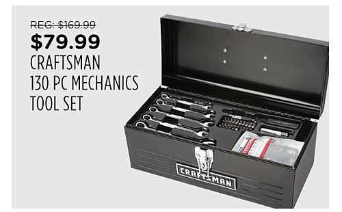 Craftsman 130pc Mechanics Tool Set