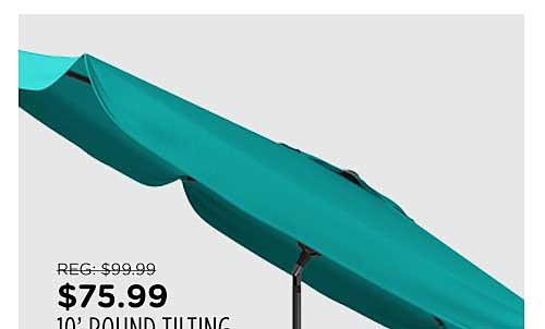 CorLiving 10ft Round Tilting Patio Umbrella