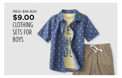 $9.00 Boys' Clothing Sets