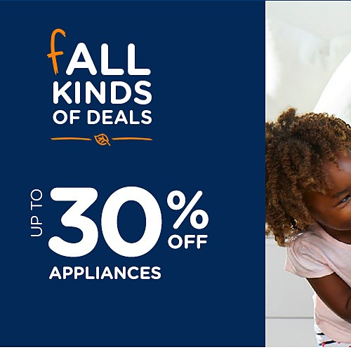 Up to 30% off appliances  + Spend $100+, get $100 CASHBACK in points in 10 installments