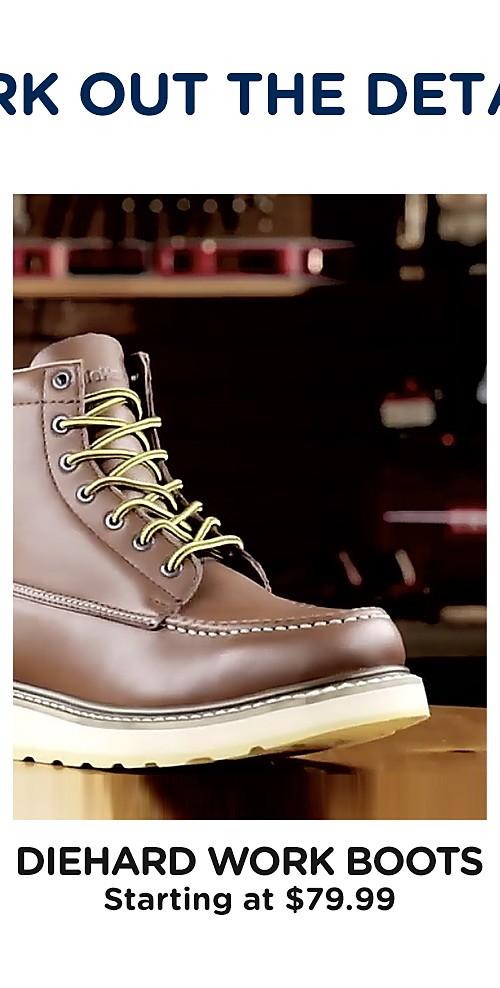 Diehard Work boots starting at $79.99