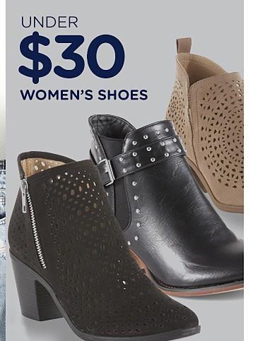 Under $30 women's shoes
