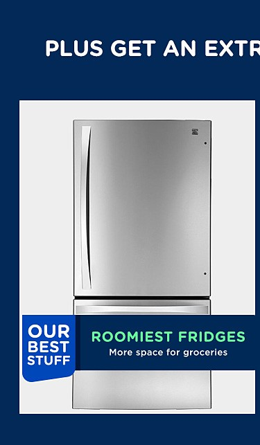 Our roomiest fridges