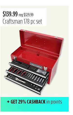 Craftsman 178 pc Mechanics Tool Set