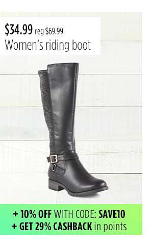 I Love Comfort Women's Rose Riding Boot - Black