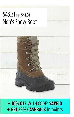 Elk Woods Men's Pack Waterproof Snow Boot - Black/Brown