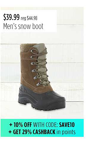 Elk Woods Men's Pack Waterproof Snow Boot - Black/Brown