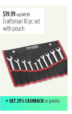 Craftsman 10 pc. Combination Wrench with Roll Pouch
