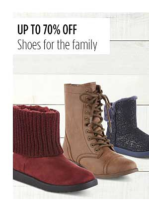 Up to 70% Off Shoes for the Family