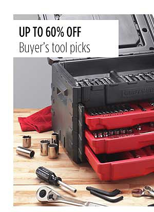 Up to 60% off Buyer's Tool Picks