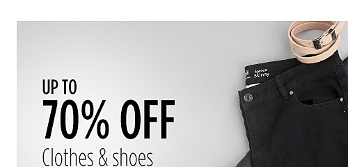 Up to 70% off Clothes