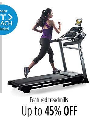 Up to 45% off treadmills
