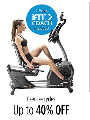 Up to 40% off exercise cycles