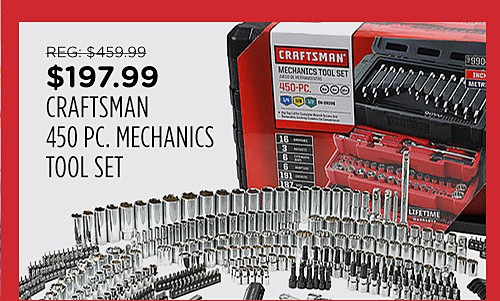 Craftsman 450 pc. Mechanic's Tool Set