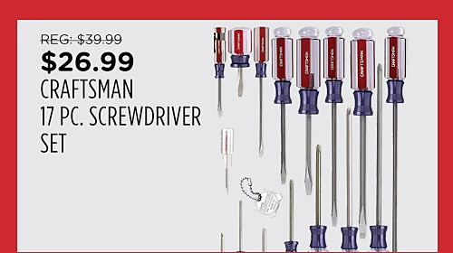 Craftsman 17 pc. Screwdriver Set