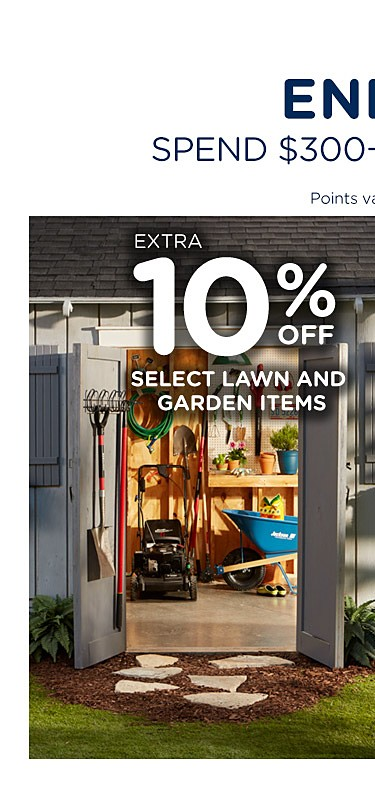 Extra 10% off lawn and garden items