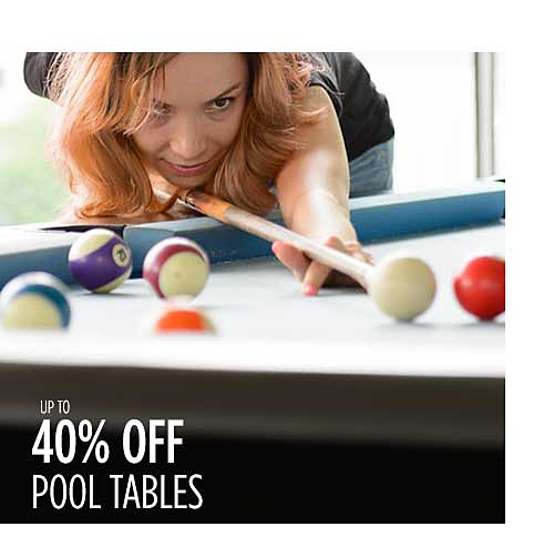 Up to 40% off pool tables