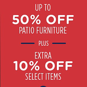 Up to 50% off patio furniture + Spend $60+, get $60 CASHBACK in points