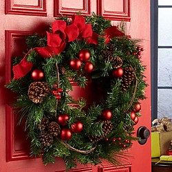 wreaths - Pics Of Christmas Decorations