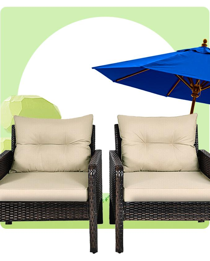 Up to 50% off Patio Furniture + Free Shipping