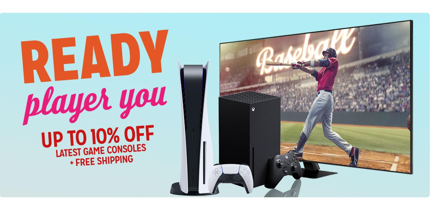 Up to 10% off Latest Game Consoles + Free Shipping